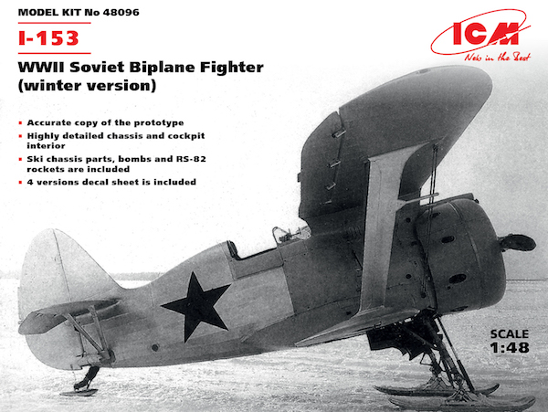 I-153 WWII Soviet Biplane Fighter (winter version)